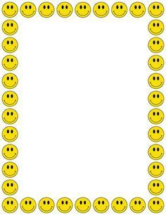 A smiley face page border..