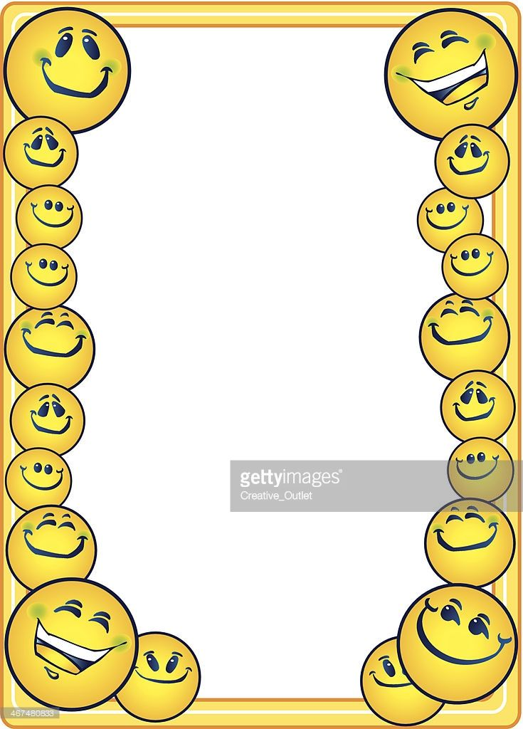 Vector Art : Smiley Faces Frame.