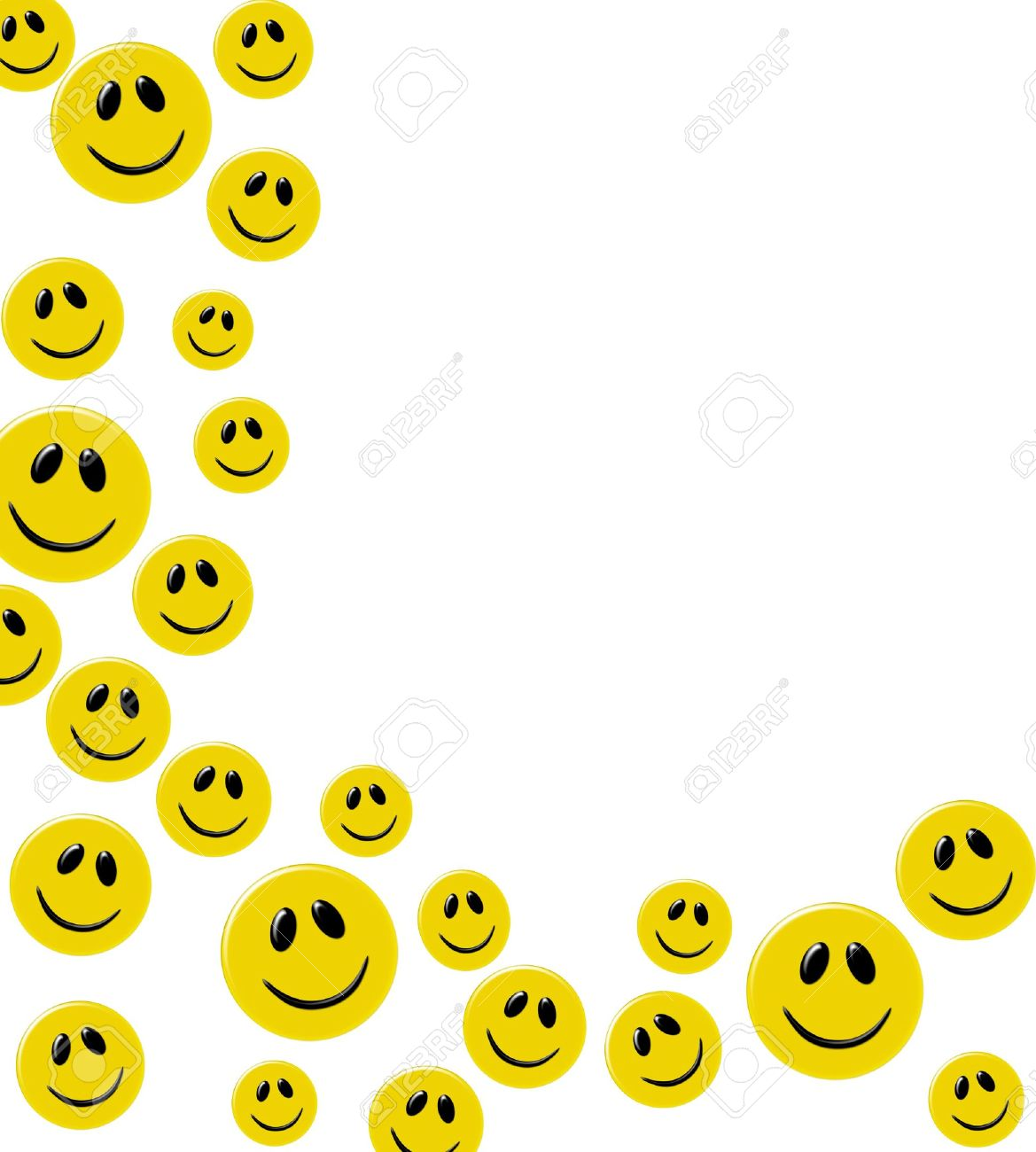 Smiley Faces Background.