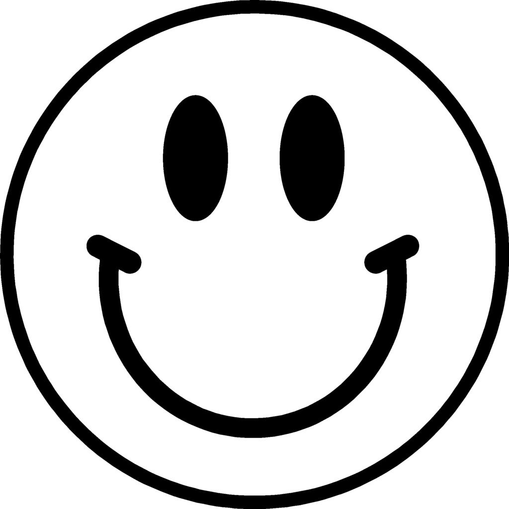 Smiley face transparent background free clipart.