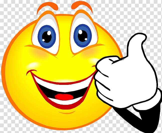 Emoji illustration, Smiley Face , Thumbs up transparent.