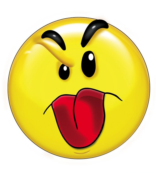 Smiley Face Sticking Tongue Out Clipart.