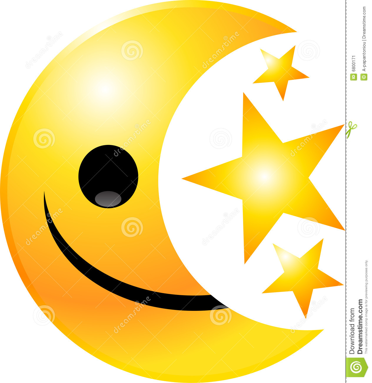 Smiley Face Star Clipart.