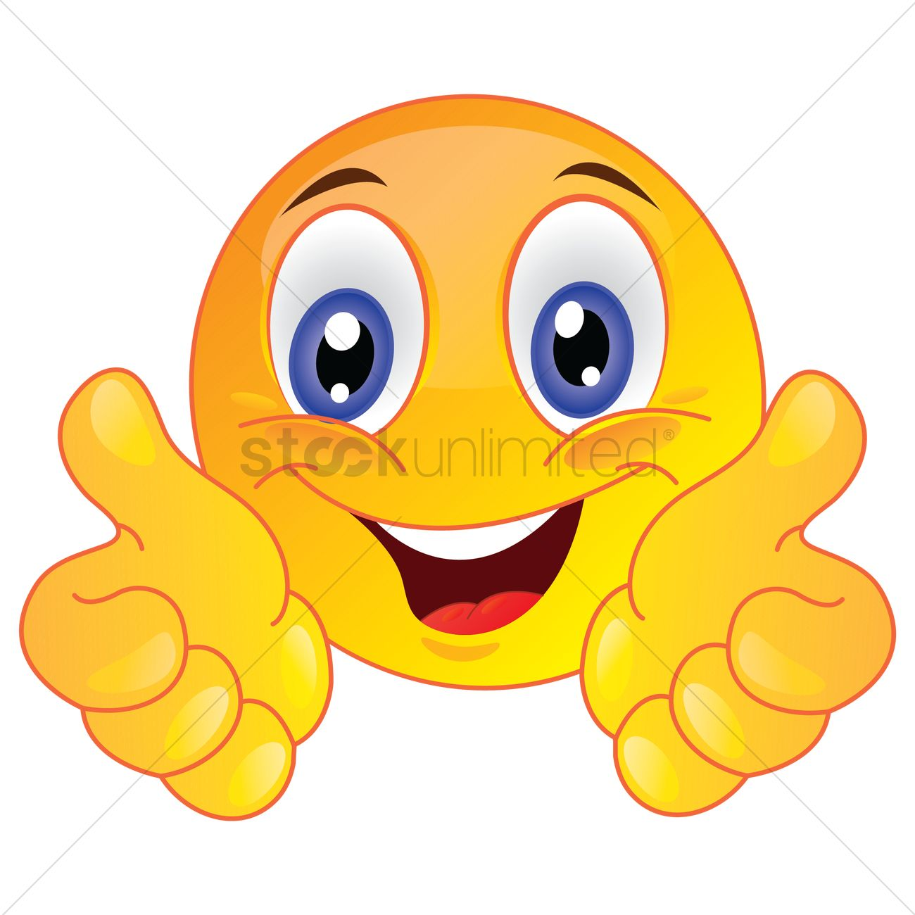 Smiley face showing thumbs up Vector Image.