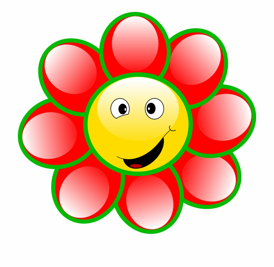 Smiley Flower Face Goofy Smile Png Image.