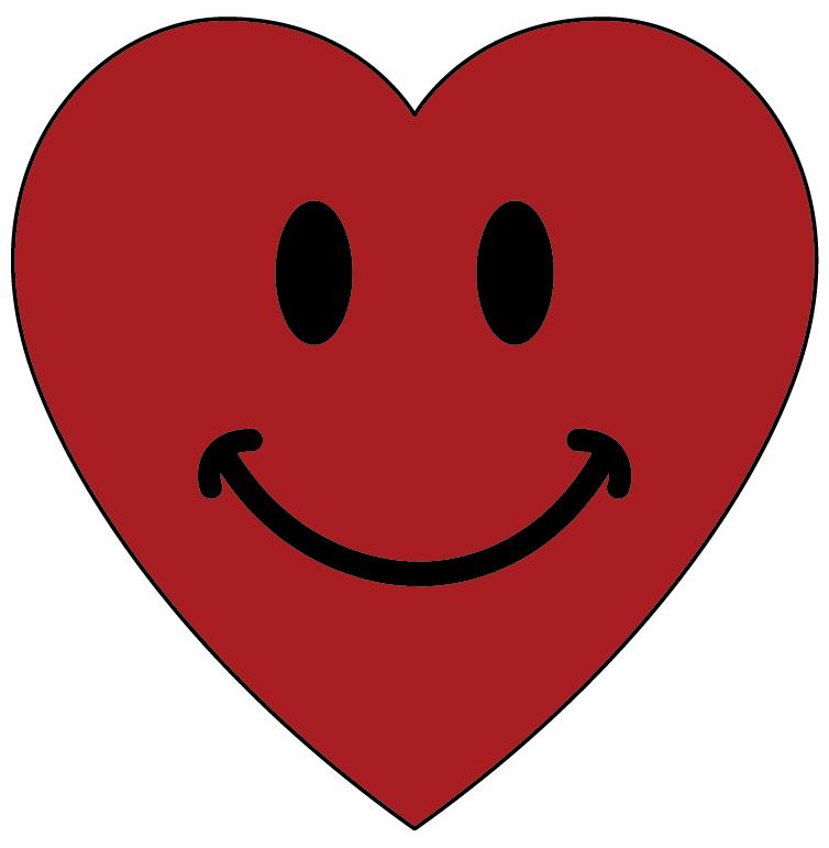 Smiley Face Heart Clipart.