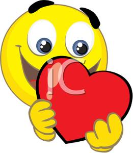 Showing post & media for Cartoon heart smiling face.