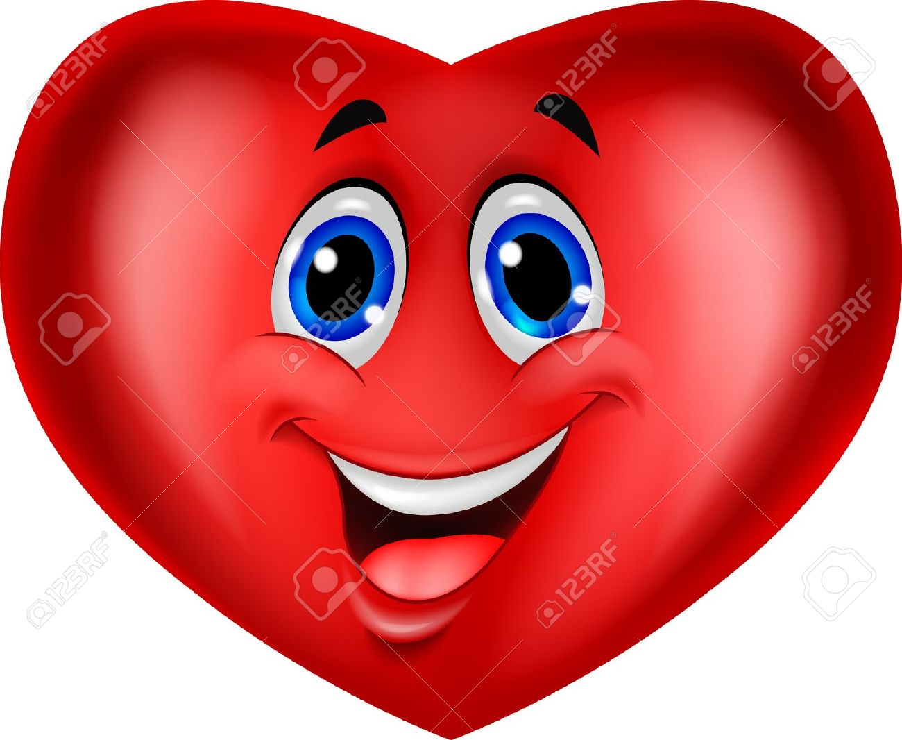 Showing post & media for Heart smiley face cartoon.