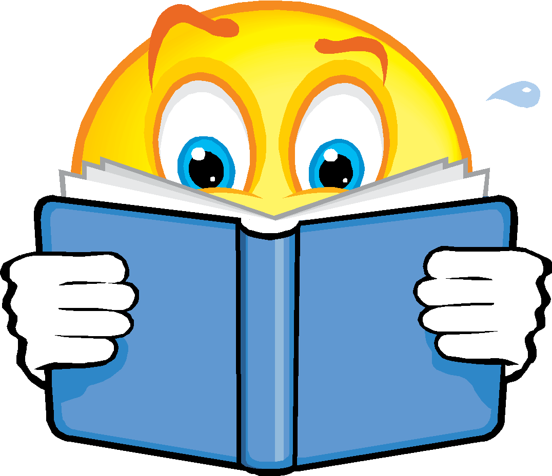 Smiley Face Reading Clipart.