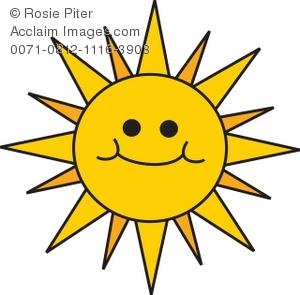 Smiley Face Sun Clipart.