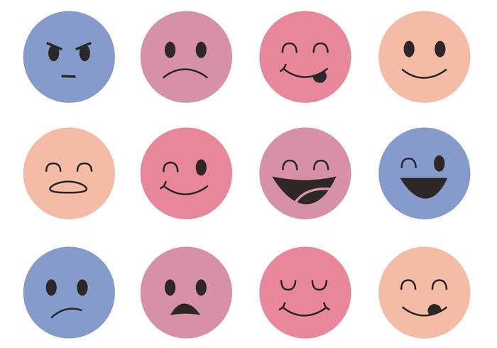 Smiley Faces Vector.