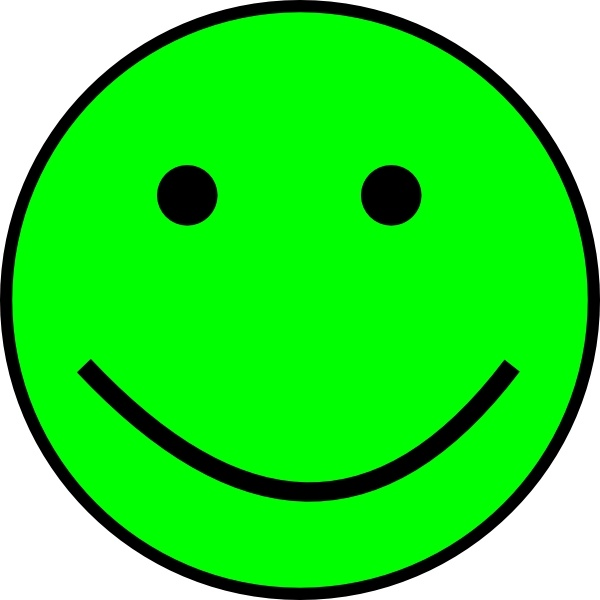 Happy Smiling Face clip art Free vector in Open office.