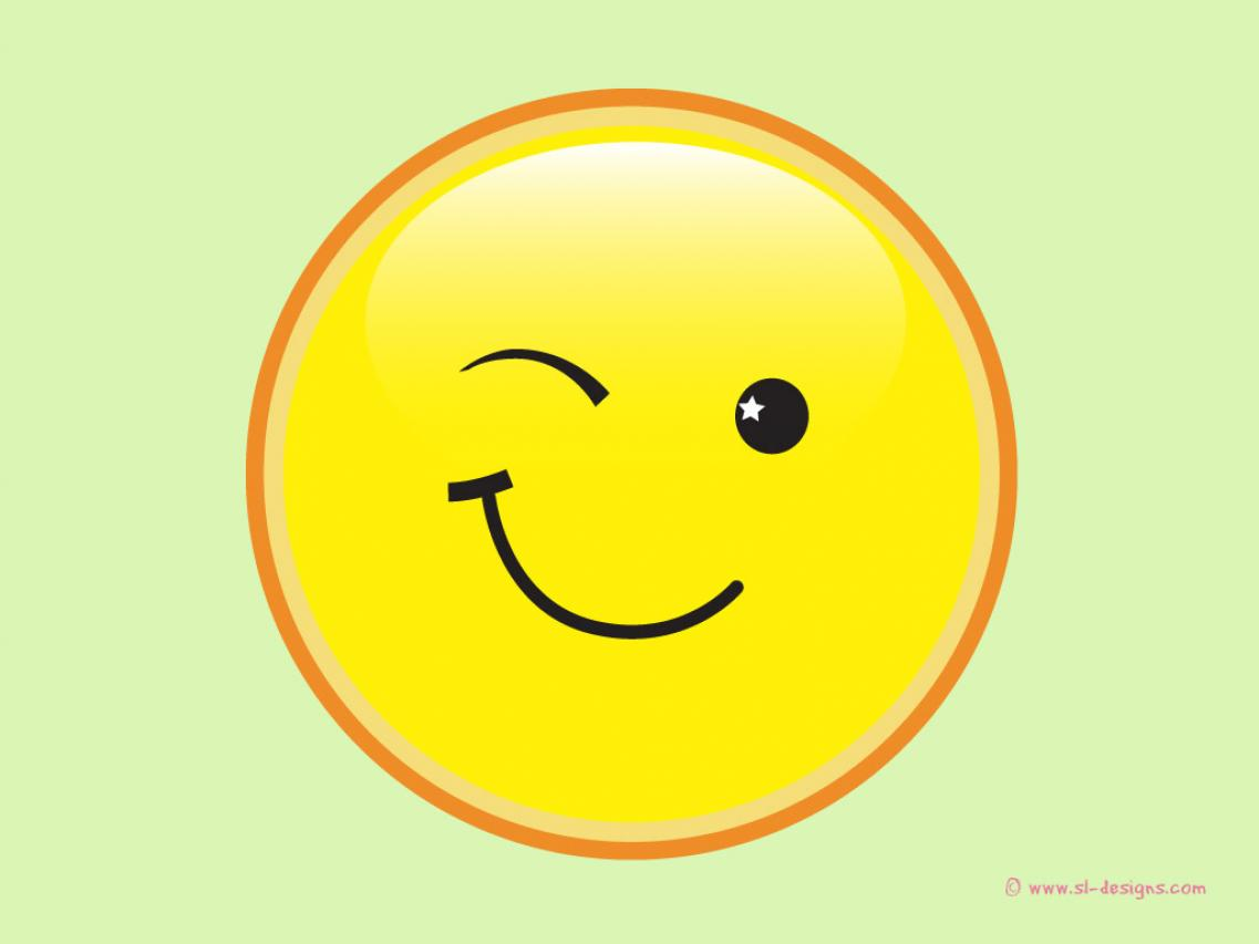 Wink Smiley Face Clip Art N4 free image.