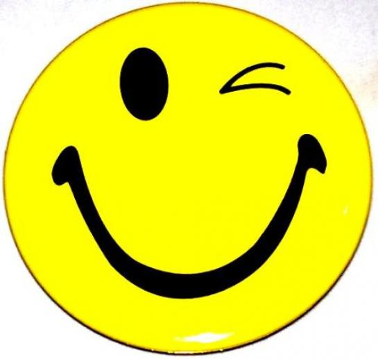 Winking Smiley Face Clip Art.