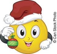 Christmas santa smiley. This christmas vector illustration.