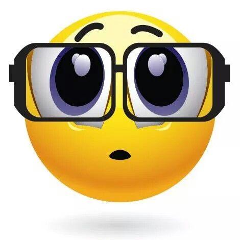 Big Eyeglasses Emoticon.