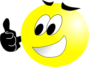 Happy Face Thumbs Up Clipart.
