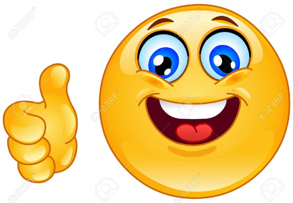 Clipart thumbs up smiley face.