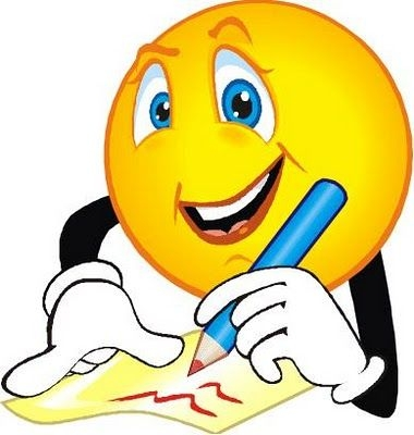 Smiley Face Writing Clipart.