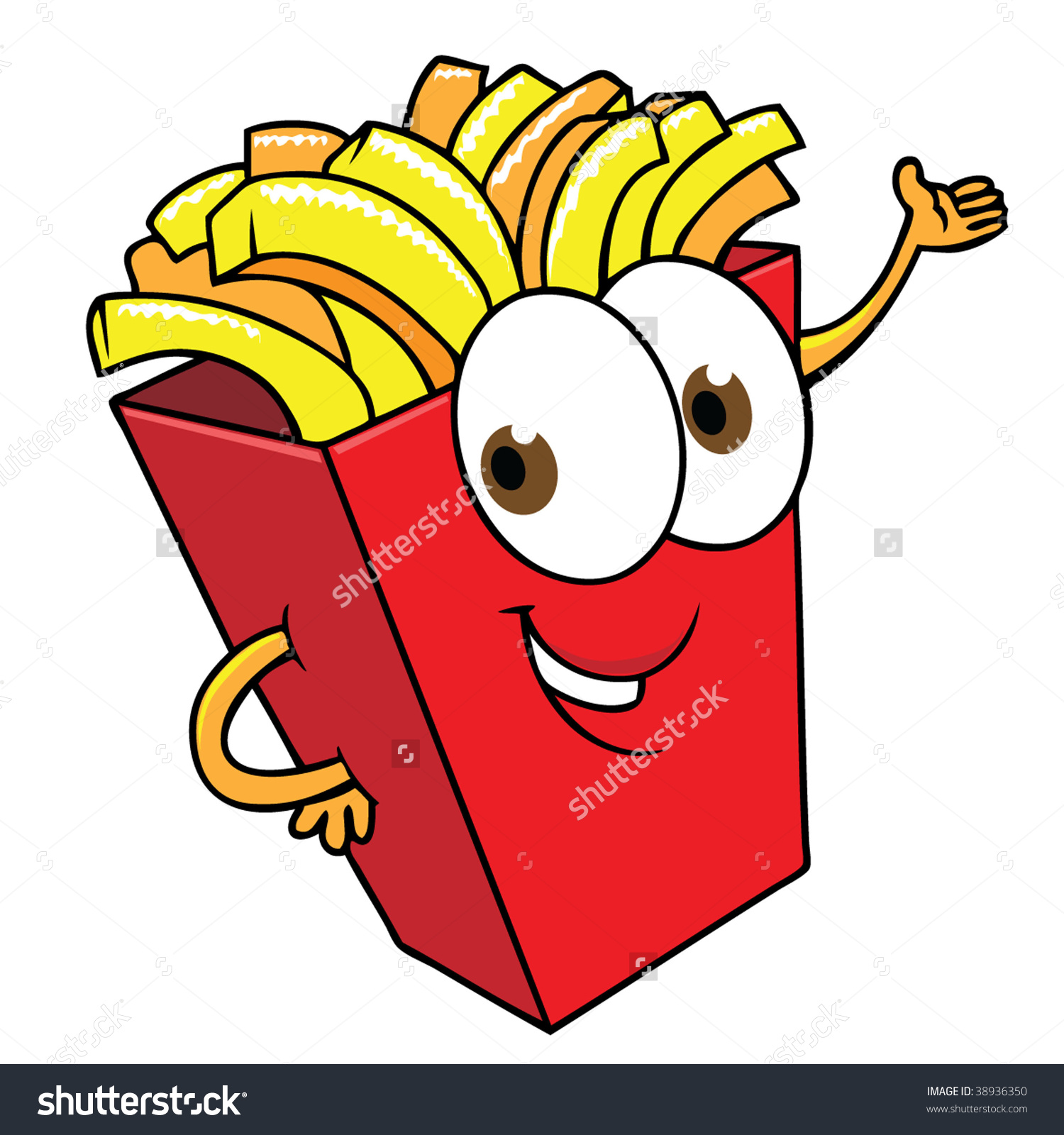Happy French Fries Stock Vector 38936350.