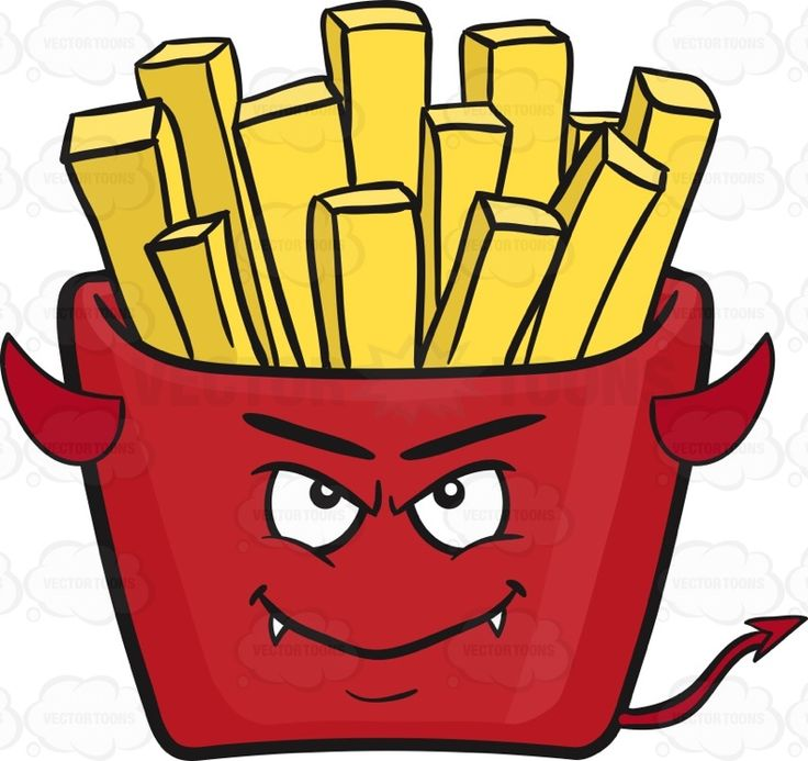 Devil Red Pack Of French Fries Emoji.