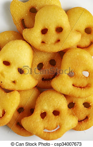 Picture of Smiley face French Fries csp34007673.