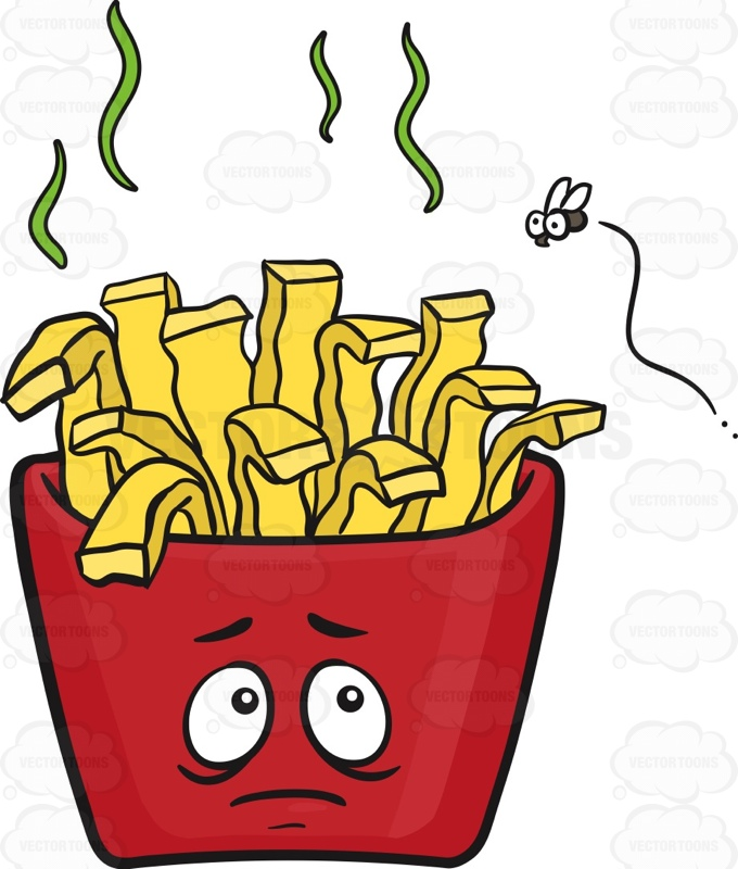Spoilt Pack Of French Fries Emoji Cartoon Clipart.