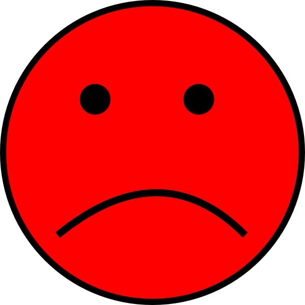 Frowny Face clip art Free vector in Open office drawing svg.