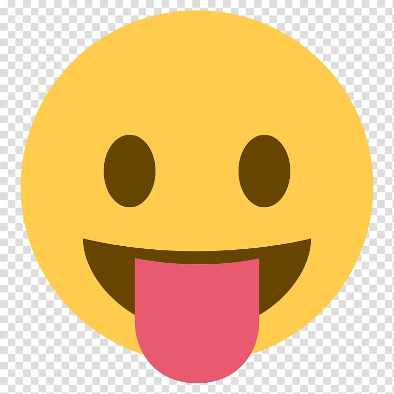 Emoji Emoticon Tongue Smiley Sticker, Emoji transparent.