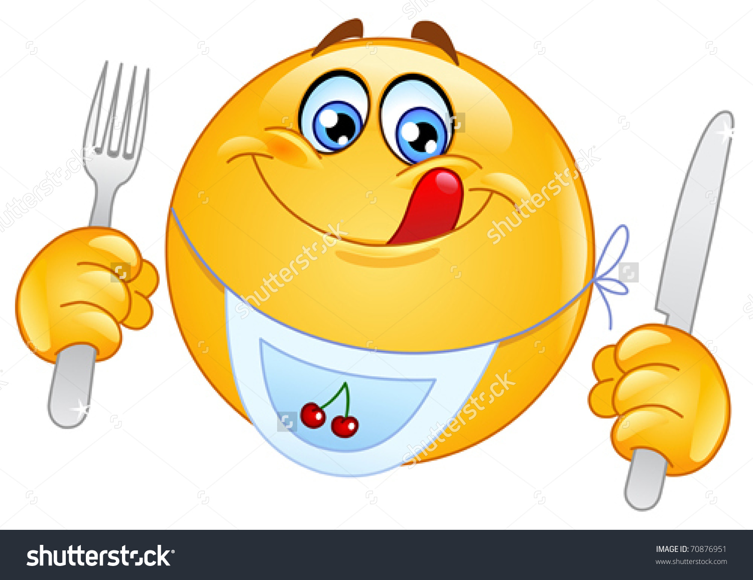Hungry Emoticon Stock Vector 70876951.
