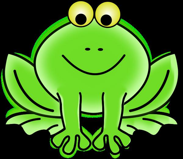 Image for frog smiling animal clip art.