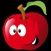 Cartoon apple fruit smiling Men\'s Premium T.