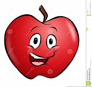 Smiling Apples Clipart.