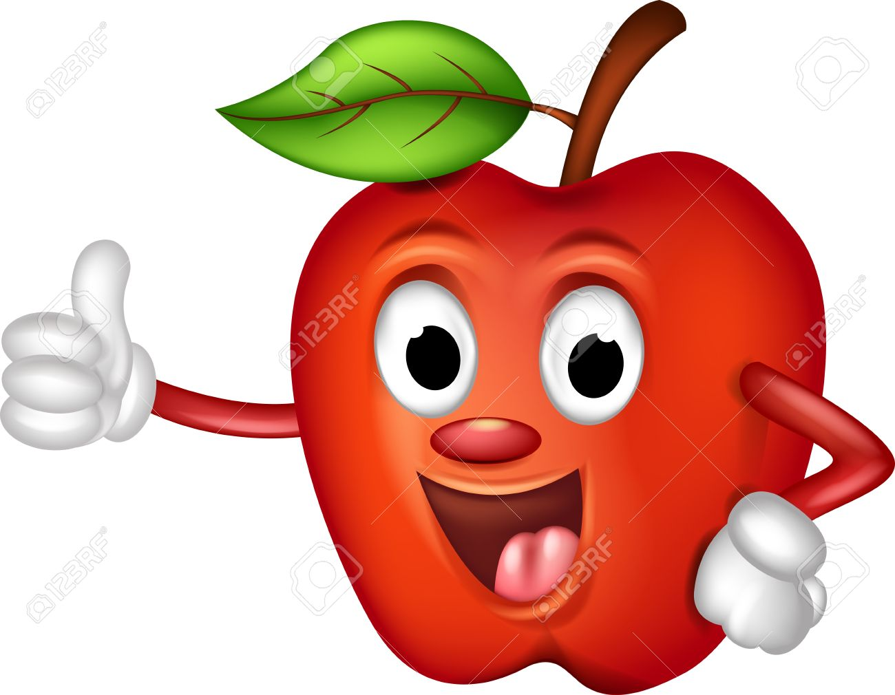 Smiling Apple Clipart.