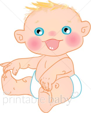 Smiling Baby Clipart.