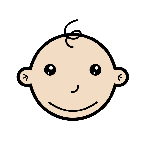 Smiling Baby Small Clip Art at Clker.com.
