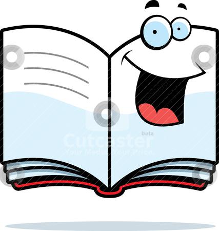 Book Smiling stock vector.