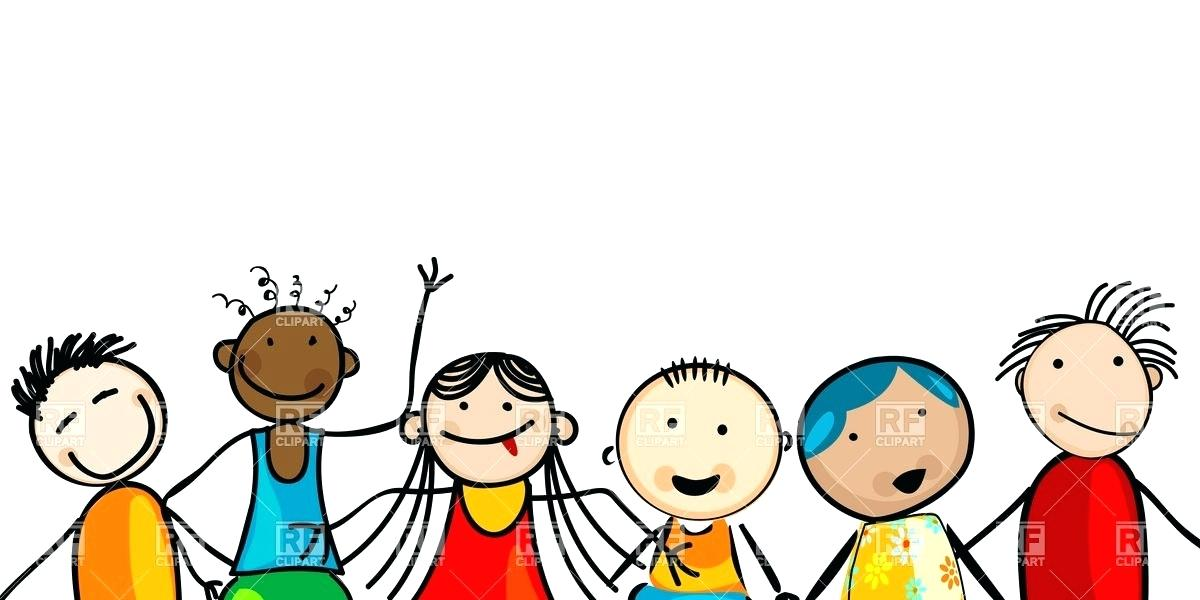 smiling children clipart.