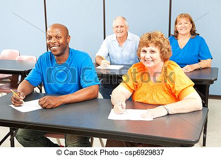 Picture of Happy Smiling Adult Education Class.