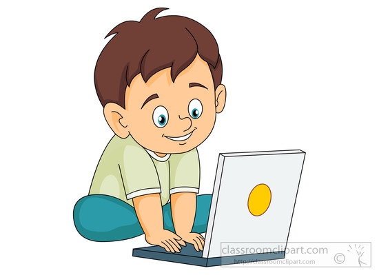 student on laptop clipart #20