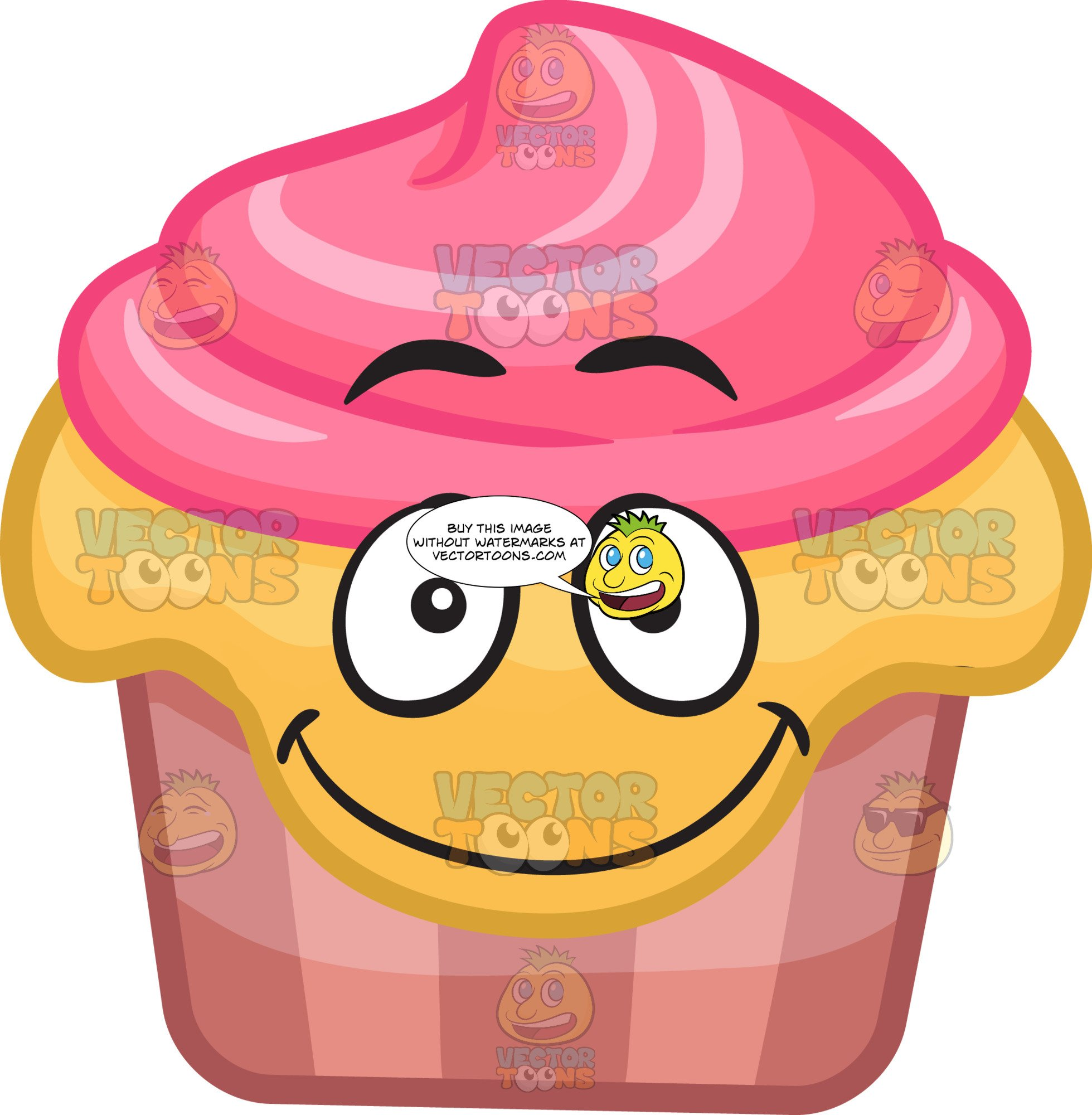 A Smiling Party Cupcake.