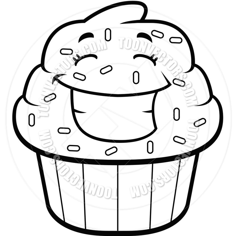 7678 Cupcake free clipart.