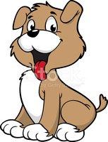 Cute Smiling Dog stock vectors.