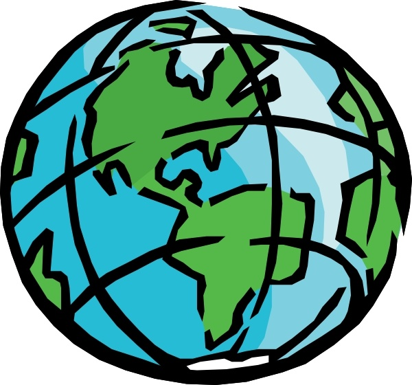 earth clip art black and white. smiling earth clipart free.