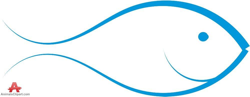 Smiling fish outline logo design free clipart download.
