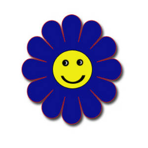 Smiley Face Flower Clipart.