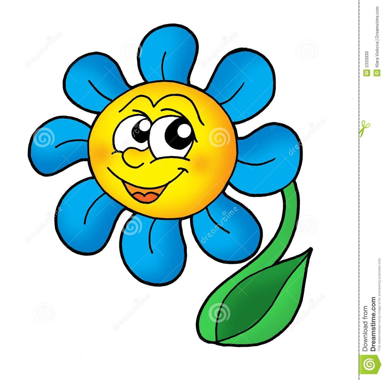 Smiling Flower Royalty Free Stock Images.