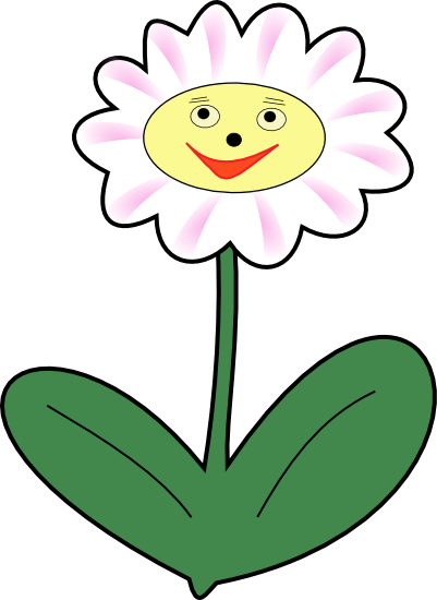Smiling Flower Clipart No Background.