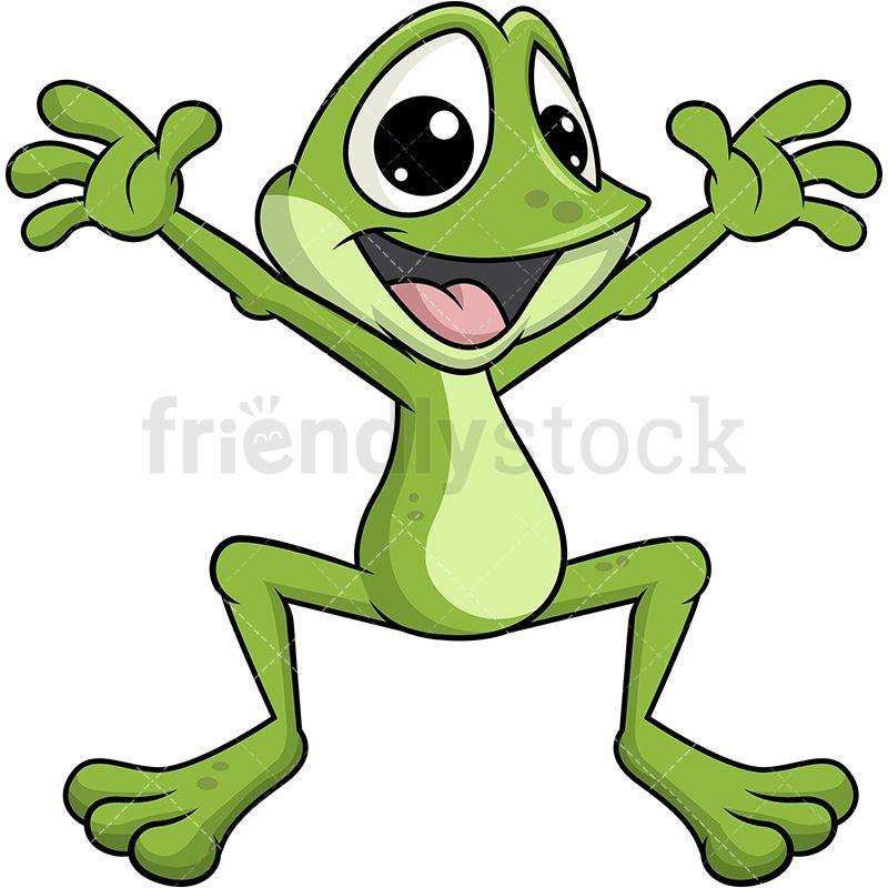Hopping Frog Mascot.