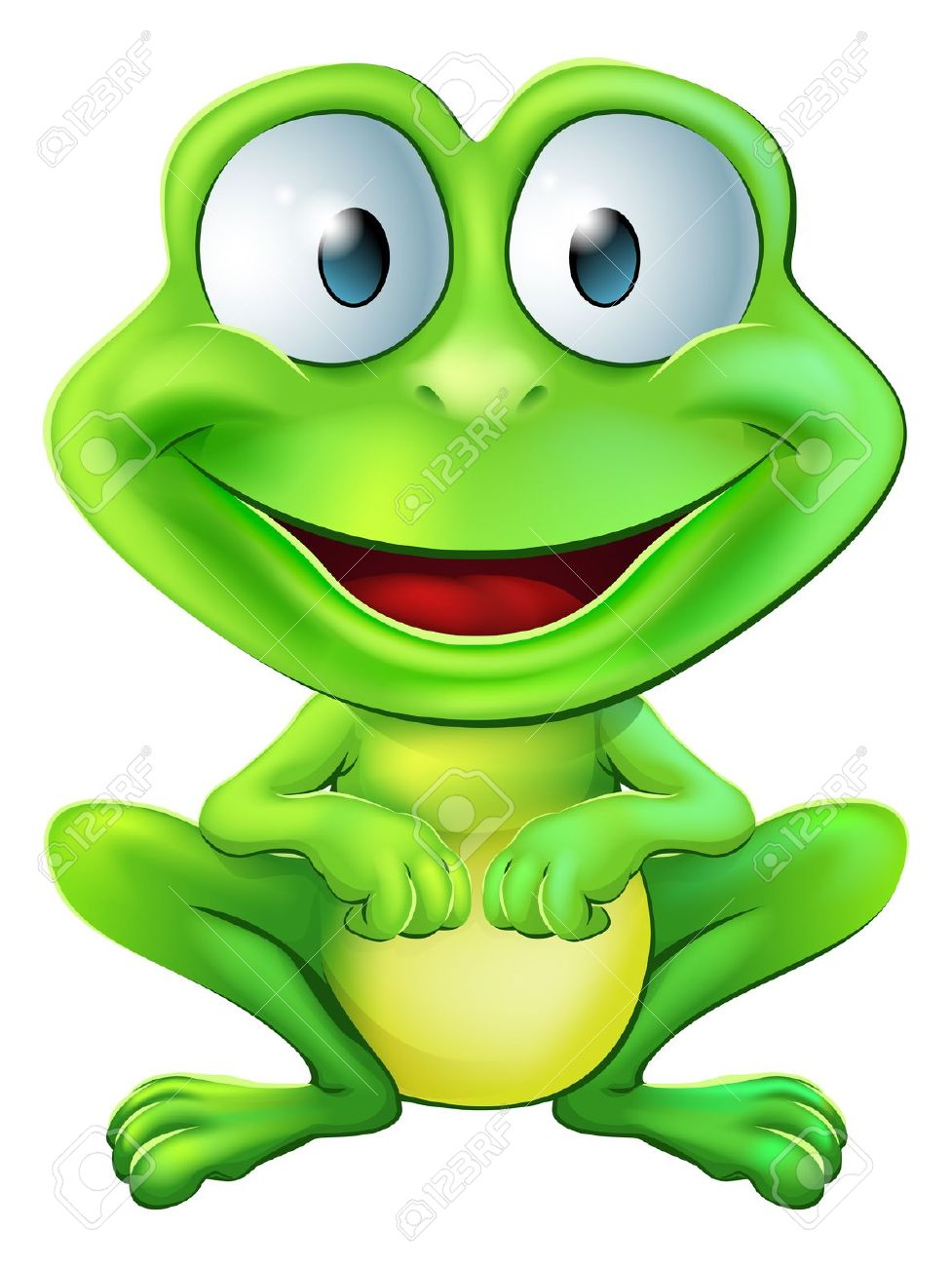 Cartoon Frog Stock Photos. Royalty Free Ca #55403.